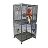 "STAINLESS STEEL 40"" x 30"" Double Stack Cage with bird-proof locks - CALL FOR PRICING"