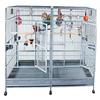 "STAINLESS STEEL 80"" x 40"" Double Macaw Cage with removable divider - CALL FOR PRICING"